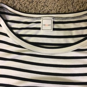 Tops - Blacks and white striped Too